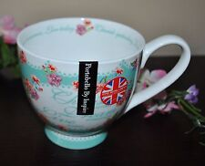 PORTOBELLO BY INSPIRE MUG HOME IS WHERE MY CAT IS Fine Bone China ENGLAND FLORAL
