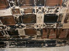 "2 each Reclaimed 12x12"" Antique 1880's Tin Ceiling Tiles-Historic Joplin Mo"