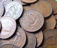 Lot Of Ten Different British Vintage Half Penny Coins 1902-1967 UK 1/2d