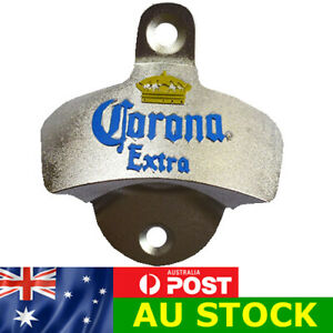 CORONA WALL MOUNTED BOTTLE OPENER MAN CAVE SHED BEER BAR WITH SCREWS