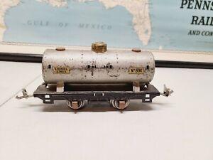 Lionel 804 Tank Car Prewar O Gauge, Parts or Restoration