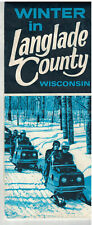 1970s Winter in Langlade County Wisconsin Map