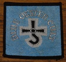 BLUE OYSTER CULT VINTAGE CIRCA 1980 EMBROIDERED WOVEN CLOTH SEWING SEW ON PATCH