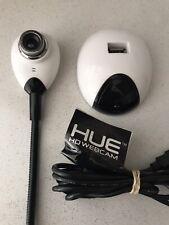 HUE HD webcam White USB camera Windows 10 & MAC
