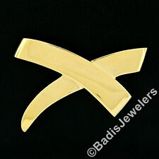 Estate Vintage Tiffany & Co. Paloma Picasso 18k Yellow Gold Large X Pin Brooch