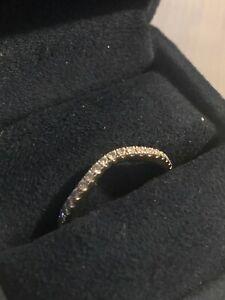 Disney Enchanted Princess Contour Wedding Band Size 7 14K White Gold