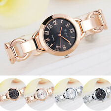 Women Luxury Crystal Gold Stainless Steel Band Analog Quartz Dress Wrist Watch