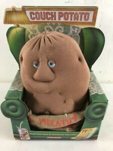 """Vintage 1987 Coleco Couch Potato 14"""" Stuffed Plush Toy Collectible New In Box"""