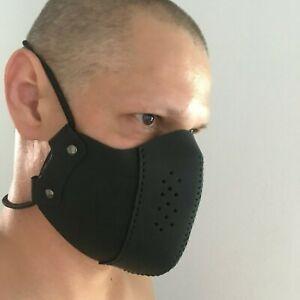 Mundschutz Maske Schutzmaske Gesichtsmaske dickes Leder mit Gummiband, Handmade