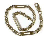 "Vintage 9ct GOLD Ornate Chain Bracelet  8"" Long / 20.5cm GIFT BOXED"