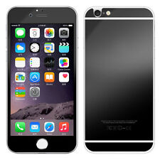 Black Front & Back Mirror Effect Tempered Glass Screen Protector for iphone 6/6S