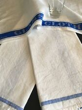 Vintage Art Deco Irish Linen Glass Cloth Bar Towel Set Of 3