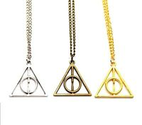 Fashion Incircle  Chain Necklace - Deathly Hallows Harry Potter Symbol Charm