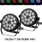 2Pack Professional Stage Par Light RGBW 4in1 18LEDsx12W Mixed Effect DMX512