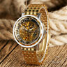 Royal Men's Watch Top Brand Gold Watch Mechanical Wristwatch Automatic Skeleton