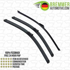 Volkswagen Polo Hatchback (2004 to 2010) Wiper Blade Complete Set X3 Front Rear
