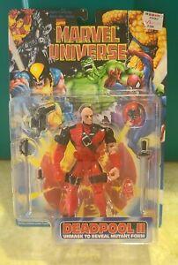 1996 ToyBiz Marvel Universe Deadpool II (2) Action Figure 48454 New In Packaging