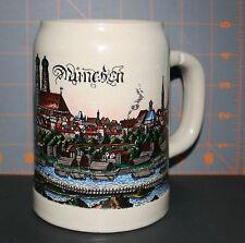 Vintage Stoneware Munchen Beer Stein Made in W Germany City Scene