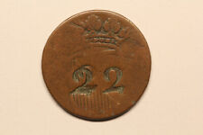 Netherlands / Utrecht - duit 17?? 22 punched (#33)