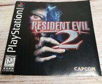 Resident Evil 2 Black Label Sony Playstation Original PS1Tested Works Great!