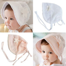Lace Bonnet Newborn Infant Beach Bucket Hat Baby Girl Boy Sun Summer Cap Applied