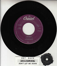 "BEATLES Get Back & Don't Let Me Down 45 rpm 7"" record NEW RARE + juke box strip"