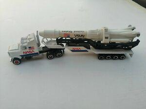 MAJORETTE CAMION NASA N 610 ECH 1/87 MISSILE rocket tractor trailer diecast