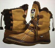 PAJAR ICEBERG WOMEN TAN COGNAC FAUX FUR WATERPROOF WINTER SNOW BOOTS  39 8.5 9
