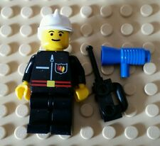 LEGO fireman minifigure with accessories includes rare blue megahorn brand new