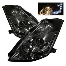 Fit Nissan 03-05 350Z Smoke DRL LED Projector Headlights Lamp FairLady