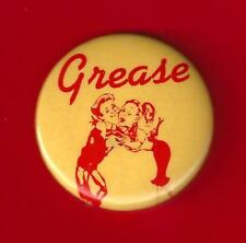 "Barry Bostwick ""GREASE"" Adrienne Barbeau / Walter Bobbie 1972 Broadway Pinback"