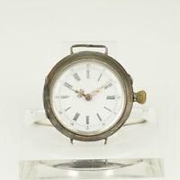 Rare! SILBER Taschenuhr Uhr Uhren no spindel armbanduhr chronometer damen RAR