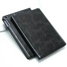 LUXURY Custodia Protettiva in Pelle per Apple iPad Air 2 TABLET CUSTODIA COVER CASE NERA