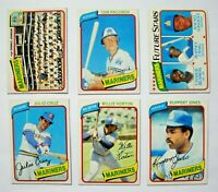 1980 Topps Seattle Mariners Team Set (25 Cards) NMMT