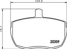 Mintex Bremsbeläge vorne Set mlb41 - BRANDNEU - Original - 5 Jahre Garantie