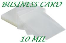 50 Business Card 10 Mil Laminating Pouches Laminator Sheet 2.25 x 3.75 Quality