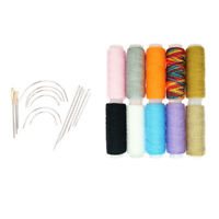 24Pcs Polyester Sewing Thread Leather Craft Repair Shoes Upholstery Needles