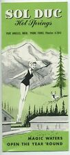 WA Port Angeles TRAVEL BROCHURE 1950's SOL DUC HOT SPRINGS RESORT Olympic Map