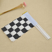 5 Pcs Mini Chequered Race Flages Hotring Racer Waving Signal Check Flag Cheer