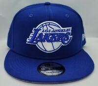 NEW ERA 9FIFTY SNAPBACK HAT.   NBA.   LOS ANGELES LAKERS.   ROYAL BLUE.