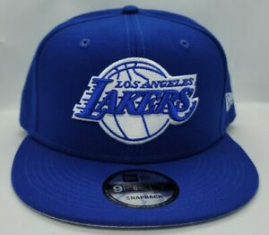 NEW ERA 9FIFTY SNAPBACK HAT.   NBA.   LOS ANGELES LAKERS.   ROYAL BLUE.