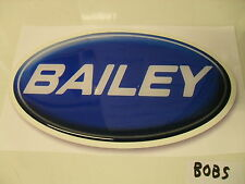 Bailey shaded oval badge for caravan dent cover ups sticker decal BOB5