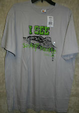 NWT Bay Island Crew Short Sleeve Tee shirt Charcoal Swamp People XXL Cotton
