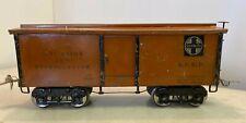 1920's Standard Gauge Ives Railway Line 192 Santa Fe Reefer Boxcar 4-0-4 Steel
