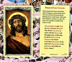 Prayer of Saint Gertrude - Laminated Holy Card 800-1017
