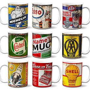 Oil Can Mug Garage Tools Retro Cup Car Mechanic Birthday Dad Gift Personalised