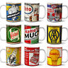 Oil Can Mug Garage Tools Retro Cup Car Mechanic Dad Christmas Gift Personalised