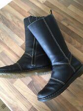 Dr Martens Womans Mid Calf Black Leather Kim Doc's Boots Uk8