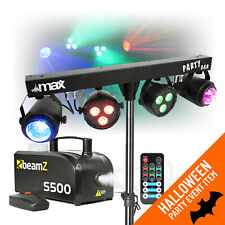 More details for dj party disco light partybar moonflower lighting rail stand dmx & smoke machine