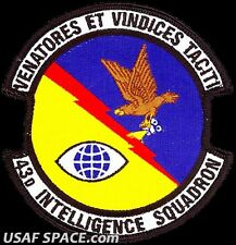 USAF 43RD INTELLIGENCE SQUADRON -Cannon AFB, NM- ORIGINAL AIR FORCE VEL PATCH